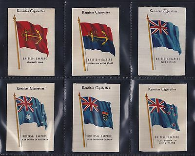 Kensitas, British Empire Flags (Silk) Set Of 48 Issued In 1934. All Scanned.