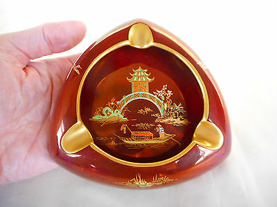 A    Carlton Ware Rouge Royale  ' Mikado ' Ashtray In Lovely Condition !