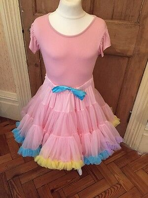 Stunning Pink  Angels Face  Outfit Approx Age 10 /12 Top & Tutu Skirt - Gorgeous