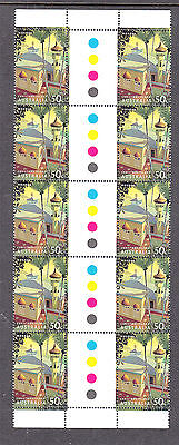 Christmas Island  2006 Mosque Mint unhinged gutter strip 10 stamps