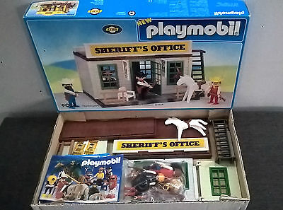 Playmobil 9023 Sheriff's Office Western Like New Very Rare!