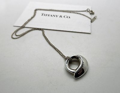 """Tiffany & Co Tiffany Frank Gehry Silver Fish Pendant Necklace 15"""""""