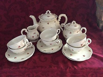 ZSOLNAY PECS TEA SERVICE For Six -  Previously used