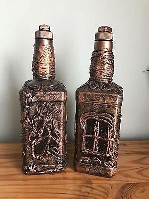 Hand Decorated Christmas Candle Holders/Vases/Bottles/Decanters