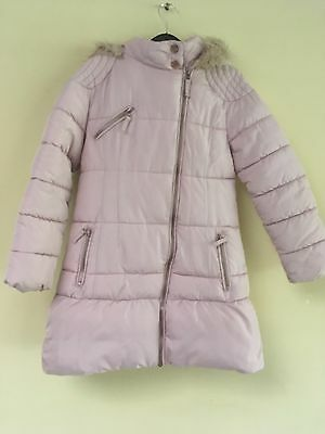 Next Girls Pink Winter Coat Age 9-10 Years