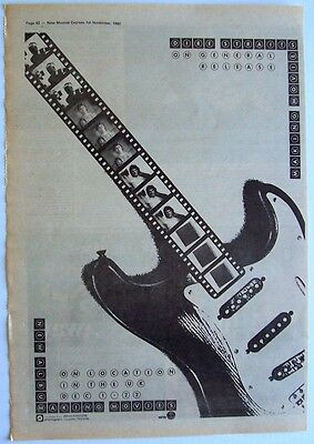 DIRE STRAITS 1980 Poster Ad MAKING MOVIES mark knopfler