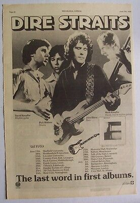 DIRE STRAITS 1978 Poster Ad DEBUT ALBUM last word in first albums