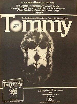 THE WHO 1975 Poster Ad TOMMY soundtrack