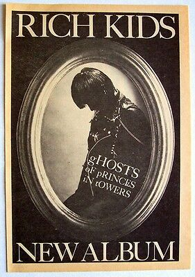 RICK KIDS 1978 Advert GHOSTS OF PRINCES IN TOWERS mini poster