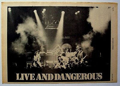 THIN LIZZY 1978 Poster Ad LIVE AND DANGEROUS