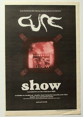 THE CURE 1993 Poster Ad SHOW