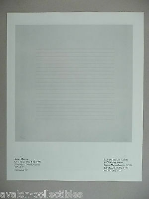 Agnes Martin Art Gallery Exhibit PRINT AD - 1990 ~~ On A Clear Day