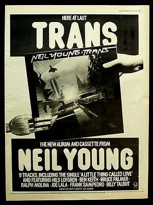 NEIL YOUNG 1983 Poster Ad TRANS