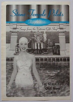 STONE TEMPLE PILOTS 1996 Poster Ad SONGS FROM THE VATICAN GIFT SHOP