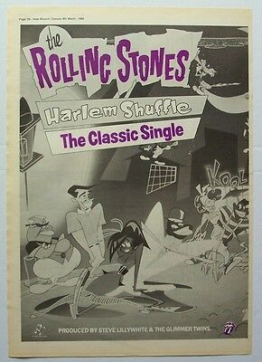 THE ROLLING STONES 1986 Poster Ad HARLEM SHUFFLE