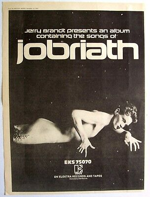 JOBRIATH 1973 Poster Ad JOBRIATH