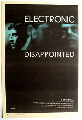new order smiths ELECTRONIC 1992 Poster Ad DISAPPOINTED