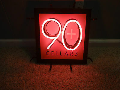 90+ Cellars Neon Sign -- Pickup Only