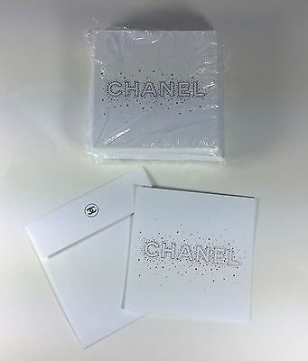 CHANEL Set of 24 NOTE CARDS with ENVELOPES FROM 2016
