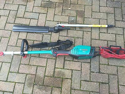 Bosch Amw 10  Electric Multi Tool & Amw Hs Hedge Trimmer Attachment.