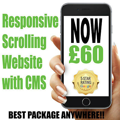 * Responsive Scrolling Website CMS / Hosting & Domain Everything Included *NEW*
