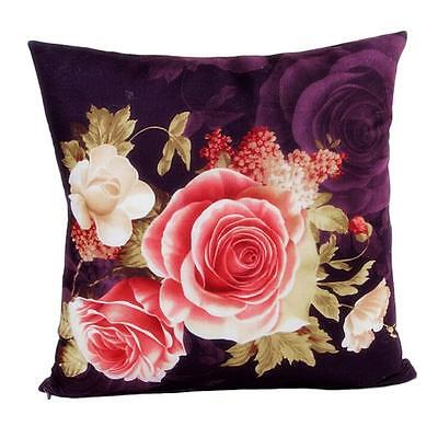 Printing Dyeing Peony Sofa Bed Home Decor Pillow Case Cushion Cover V0Q2