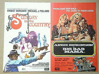 Sunday in the Country & Big Bad Mama (1974) Double bill UK Quad Poster