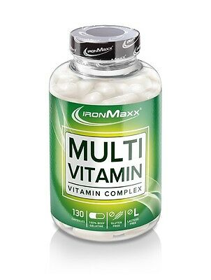 IronMaxx Multi vitamin Container with 130 Capsules (22,63 €/100 g)