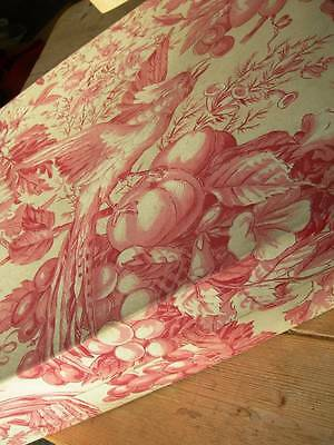 Divine antique French Toile de Jouy large fabric covered boudoir box - 1900