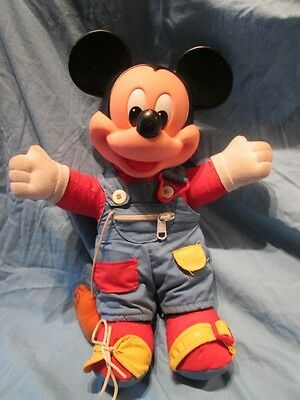 Vintage Mickey Mouse Doll Learn To Dress Me