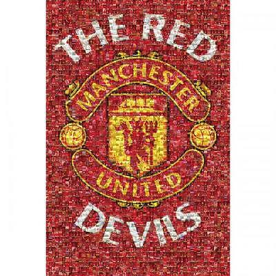 Official Licensed Football Product Manchester United Poster Mosaic 48 Wall New