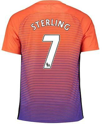 Manchester City Third  jersey STERLING 7 for size Large
