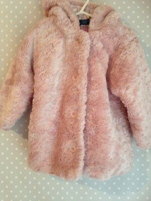 Girls Coat Age 2-3 Years Pink
