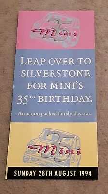 Mini 35th Birthday flyer for Silverstone
