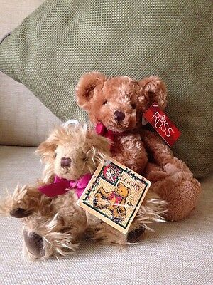 2 Small Russ Bears Gregory & Treacle Tagged