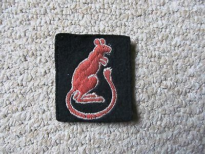 7th Armoured Division Desert Rats WW2 Embroidered Formation Sign Badge ORIGINAL