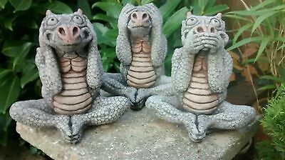 Latex Rubber Mould Molds Mold Set Of Three Wize Dragons Detailed Thick Moulds