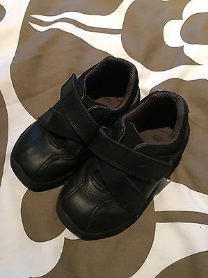 Clarks Black Leather Boys School Shoes - Infant Size 7.5G - Perfect Condition.