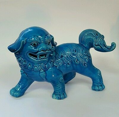 Chinese Blue Ceramic signed Dragon