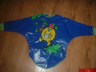 ELC Painting Jacket Apron Craft Mr Mischief Boys Blue 3-4 Years