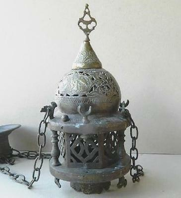 Antique Islamic Copper Mosque Hanging Lamp
