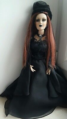 Vixens of the Underworld Porcelain Gothic Doll on Stand Collectable