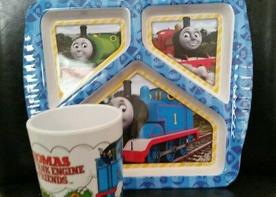 Thomas the Tank & Friends Dinnerware Divided Plate & Cup Tumbler