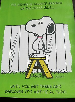 Rare Vintage Snoopy Poster
