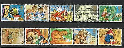 GB Stamps 1994 Greeting Booklet Used Stamp Set. 'Messages' SG 1800-1809