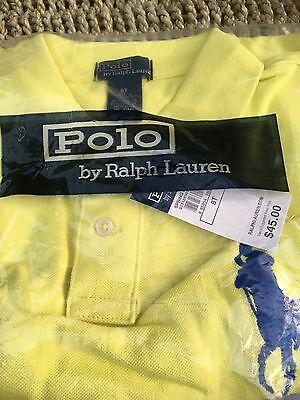 Ralph Lauren Yellow Polo top Age 8T