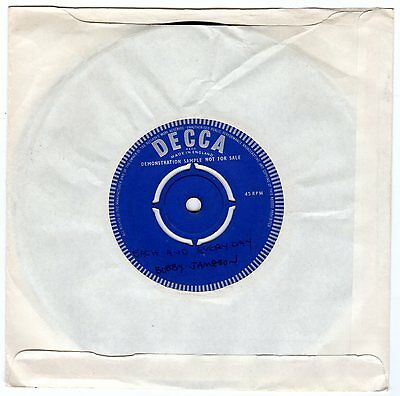"""Bobby Jameson U.K. promo 7"""" 45 rpm """"All I Want Is My Baby"""" (Rolling Stones rel.)"""