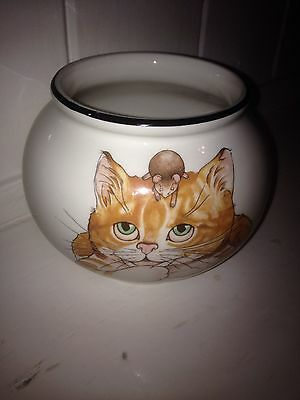 Arthur Wood  Collectable Back to Front Ginger Cat and Mouse Open Sugar Bowl