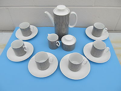 Vintage Thomas Germany Medaillon Form 702 Coffee Set in Brown 1959-1977
