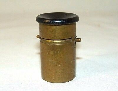 ANTIQUE POCKET BRASS MICROSCOPE ERNO made in CZECHOSLOVAKIA